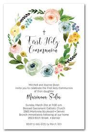 communion invitations wreath holy communion invitations