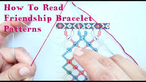 bracelet friendship patterns images How to read friendship bracelet patterns tutorial jpg