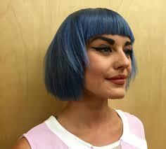 edgy bob hairstyle front bang blue edgy bob haircut short hair pinterest edgy