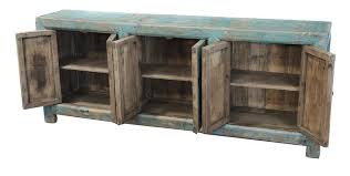 light blue large sideboard buffet cabinet distressed media console