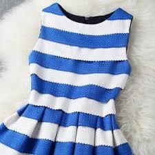 blue and white stripe dress on luulla