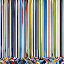 ian davenport u0027s poured lines and puddle paintings ignant com