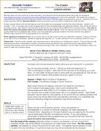 correct format of resume proper resume example how