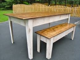 Farmhouse Kitchen Furniture Ana White Modern Farmhouse Kitchen Table With Bench Diy Projects