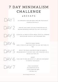 Challenge Meaning 7 Day Minimalism Challenge Part 5 Beautifulbostonian