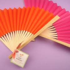 wedding fans favors solid color paper fans set of 6 asian wedding favors
