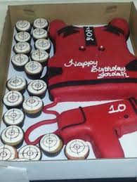 laser tag cakes pinterest birthdays cake and laser tag