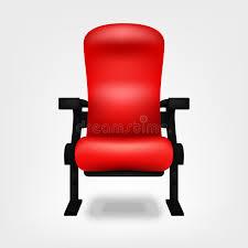 chaise de cinéma posez la chaise dans le cinéma d isolement sur un fond blanc