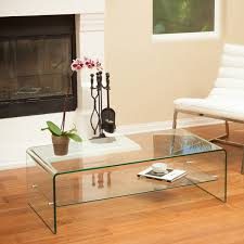 Table With Sofa Ramona Glass Coffee Table With Shelf By Christopher Knight Home