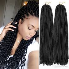 best synthetic hair for crochet braids curly weaves synthetic dreadlocks braids hair for women havana
