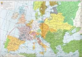 Europe 1815 Map by Europe 1527 1571 Full Size