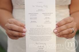 wedding program script wedding program thin style