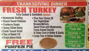 stores and restaurants that deliver thanksgiving dinner in bay