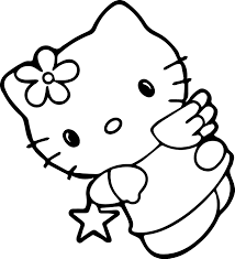 hello kitty star coloring page wecoloringpage
