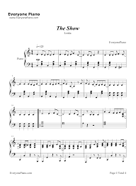 the show lenka stave preview 1 free piano sheet piano chords
