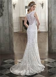 scoop neck lace wedding dress mermaid scoop neck see through back venice lace wedding dress