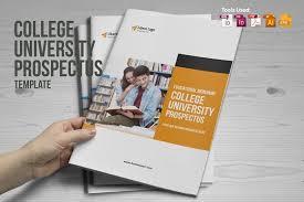 college university prospectus brochure templates creative market