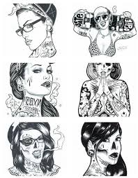 sugar skull pin up drawing clipartxtras