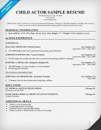 How To Acting Resume How To Write A Resume For Kids Acting Resume Templates Theater