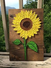 Garden Wall Art Cosmopolitan Bright Sunflower String Art Flower Nail Thread Order