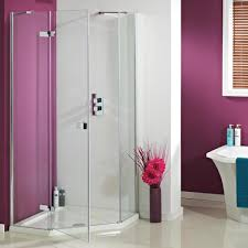 Shower Tray And Door by Phoenix Idyllic Neo Hinged Pentagonal Shower Enclosure Uk Bathrooms