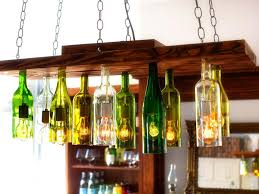 Wine Home Decor Classy Diy Orginal Chandelier Made From Wine Bottles Ideas For