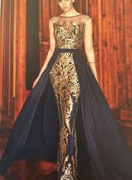 robe de soir e mari e robe libanaise or avec cape bleue marine les plus belles robes