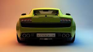 Lamborghini Gallardo Back - artstation lamborghini gallardo studio c vinod g