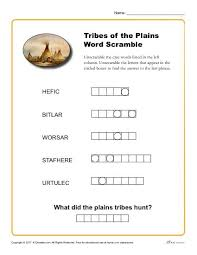 native american heritage month word scramble activity