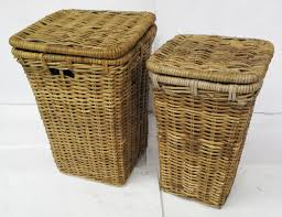Wicker Clothes Hamper With Lid Large Woven Basket With Lid Home Appliances Decoration