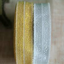 gold glitter ribbon free shipping 16mm silver gold black foe elastic glitter ribbon