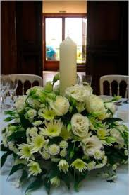 Church Flower Arrangements Flower Arrangement With Church Candle