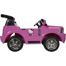 Hello Kitty Bedroom In A Box Hello Kitty Suv 12 Volt Battery Powered Ride On Walmart Com
