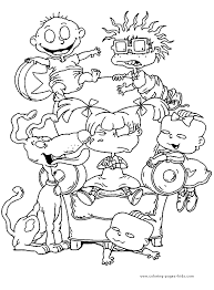 angelica coloring book printable rugrats coloring pages for kids