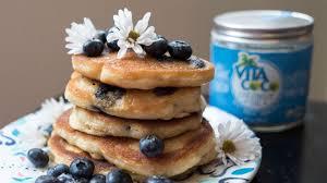 blueberry pancake recipe coconut water recipes blueberry pancakes vita coco