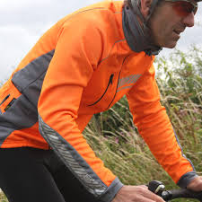 orange cycling jacket impsport u0027polar u0027 winter cycling jacket flo orange grey