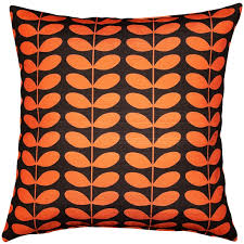 Decorative Pillows Modern Centruy Modern Orange Throw Pillow 20x20