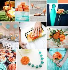 teal wedding decorations orange and teal wedding ideas color orange turquoise