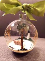trim the tree with some palm trees ornament idea glass painting