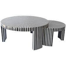 viyet designer furniture tables vintage stripe tiled coffee