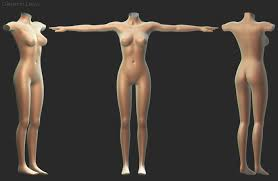 Female Body Reference For 3d Modelling Female Character A Walk Through In The Whole Process Finished
