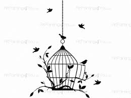 wall decals birdcage artpaintingyou birdcage animals wall decals