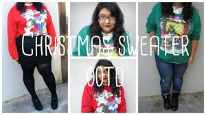 plus size of the day ugly cute christmas sweater youtube
