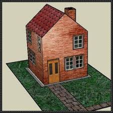 build a house free simple paper house free building paper model