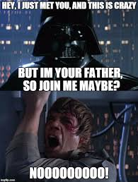 Star Wars Meme Generator - i am your father meme generator imgflip star wars pinterest