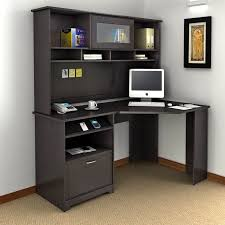 Small Corner Computer Desk With Hutch Bush Cabot Corner Computer Desk With Optional Hutch Bhi874