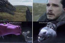 Make Your Own Game Of Thrones Meme - hilarious video shows how game of thrones jon snow mirrored shrek s