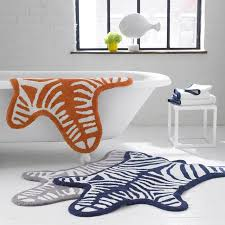 Zebra Bath Rug Fancy Zebra Bath Rug By Jonathan Adler