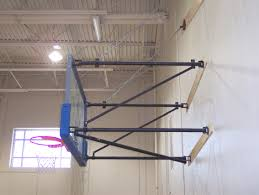 Adjustable Basketball Hoop Wall Mount Built To Order Stationary Wall Mount Backboard Structure Bison Inc