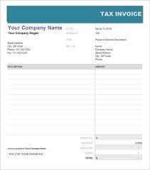 editable tax invoice template